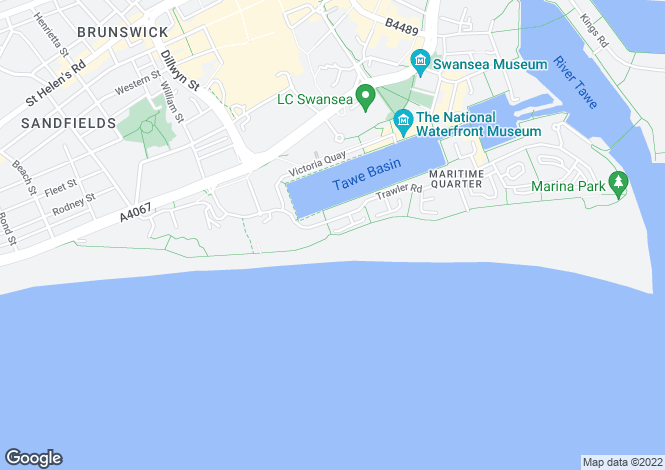 Map for Camona Drive, Maritime Quarter, SWANSEA