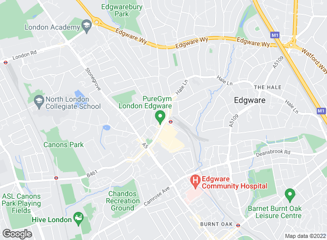 Map for Bairstow Eves, Edgware