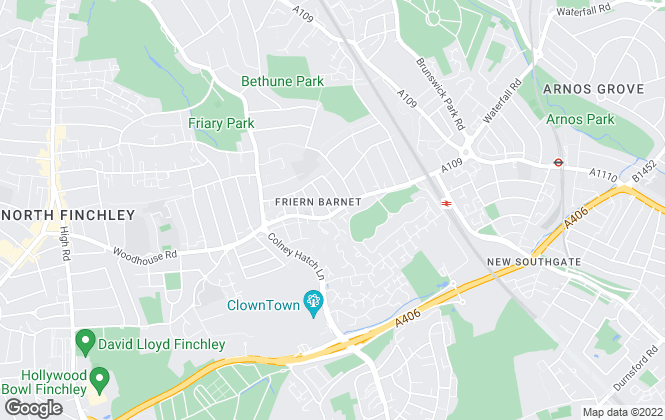 Map for BPM ESTATES LIMITED, Finchley