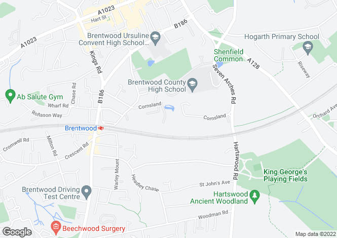 Map for 4 bedroom Detached House in Brentwood