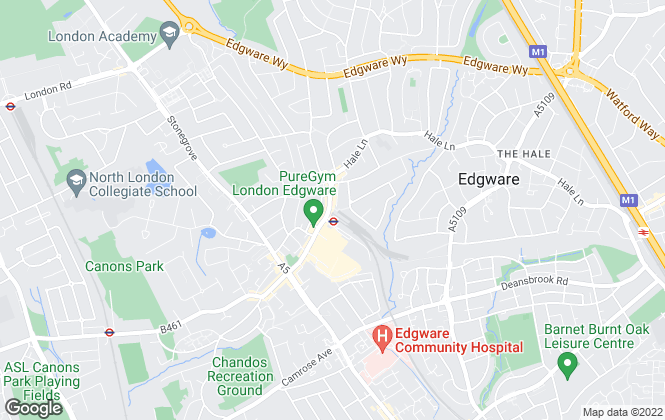Map for Benjamin Stevens, Edgware