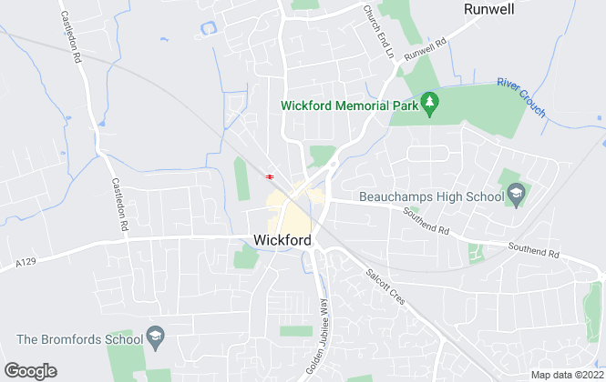 Map for Temme English, Wickford