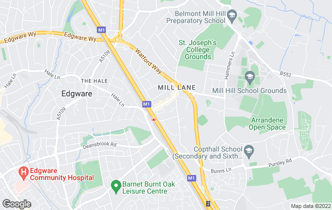 Map for Richard James, Mill Hill