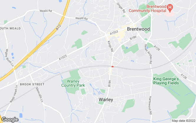 Map for Essex Property, Brentwood