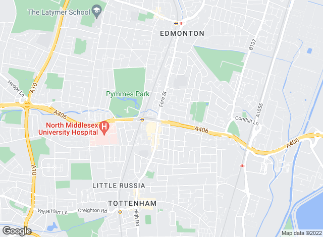 Map for Bairstow Eves, Edmonton