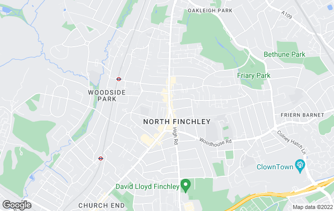 Map for Martyn Gerrard, North Finchley