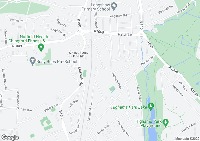 Map for Crofton Grove, Chingford