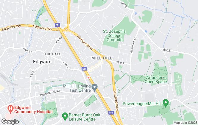 Map for Martyn Gerrard, Mill Hill