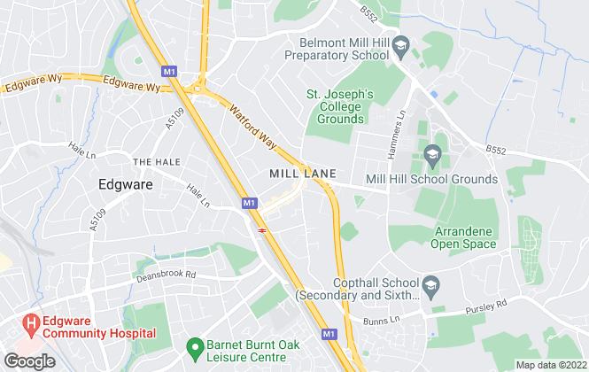 Map for Martyn Gerrard, Mill Hill