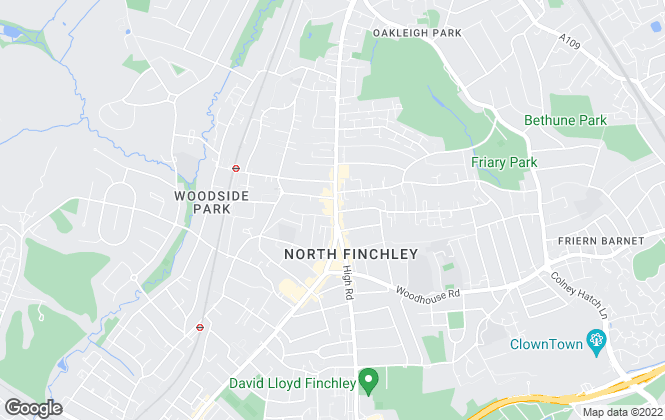 Map for Foxtons, North Finchley