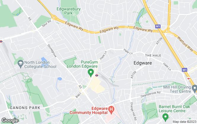 Map for Grove Residential, Edgware