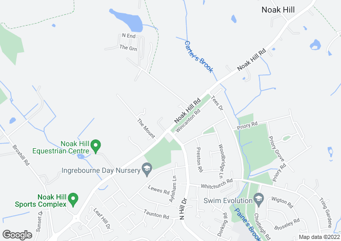 Map for Noak Hill Road, Noak Hill, Romford, Essex, RM3