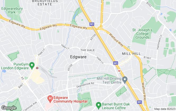 Map for Houseman Properties, Mill Hill