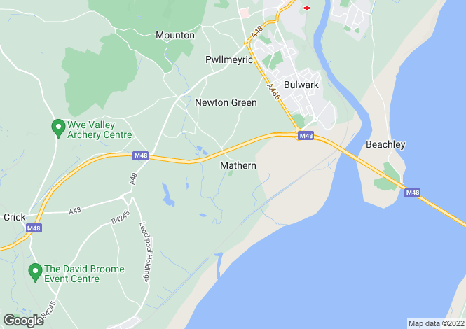 Map for Mathern, Chepstow, NP16