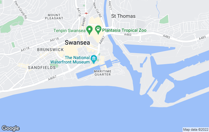Map for Peter Alan, Swansea Marina Lettings