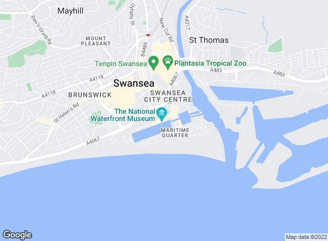 Map for Smiths Residential Lettings, Swansea