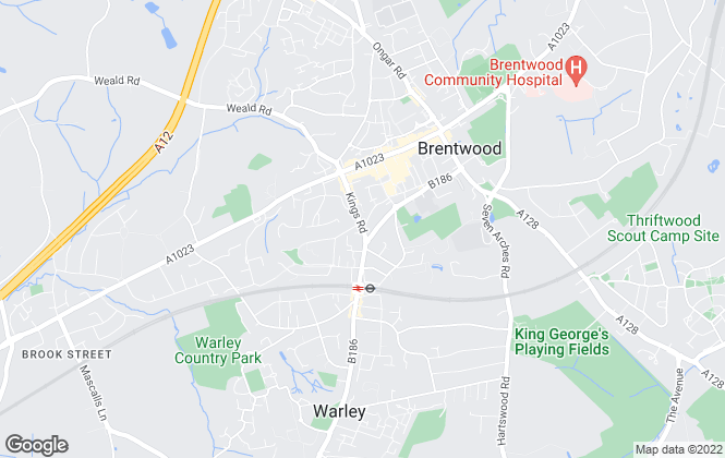 Map for Belvoir, Brentwood