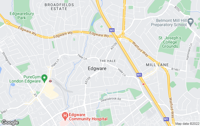 Map for Space Residential, Mill Hill & Edgware