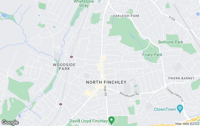 Map for Bairstow Eves Lettings, North Finchley