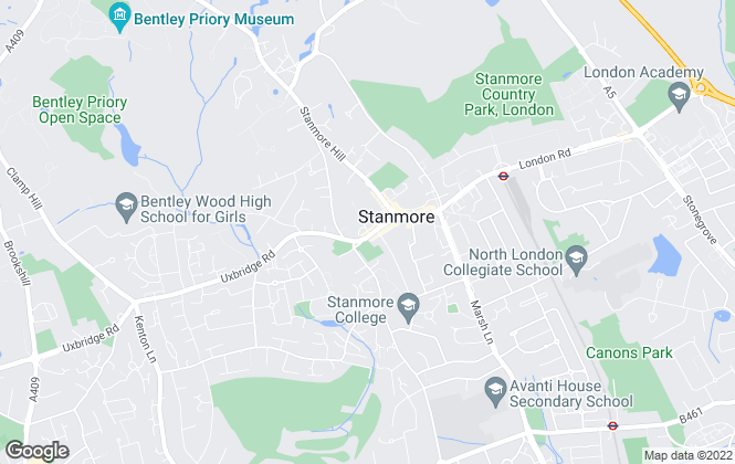 Map for Preston Bennett, Stanmore