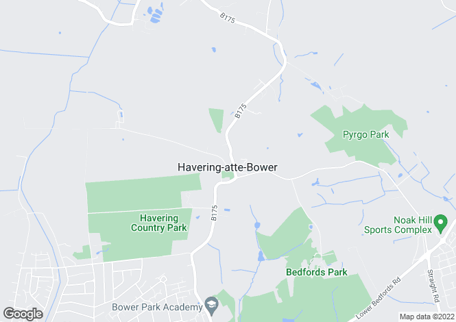 Map for North Road, Havering-Atte-Bower, Romford