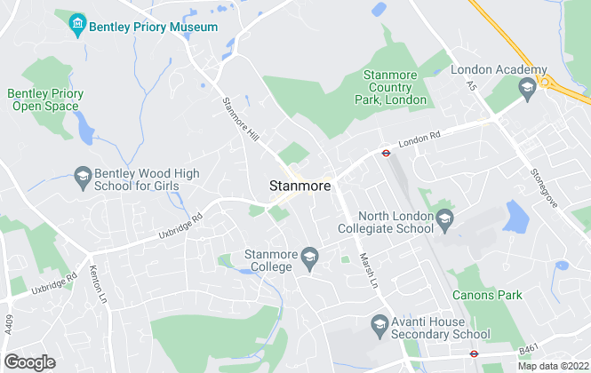 Map for Stone Butters Residential , Stanmore