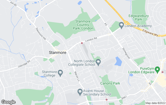 Map for Bellvue Students, Stanmore