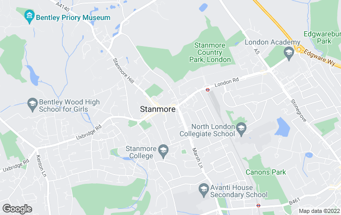 Map for Chancellors, Stanmore