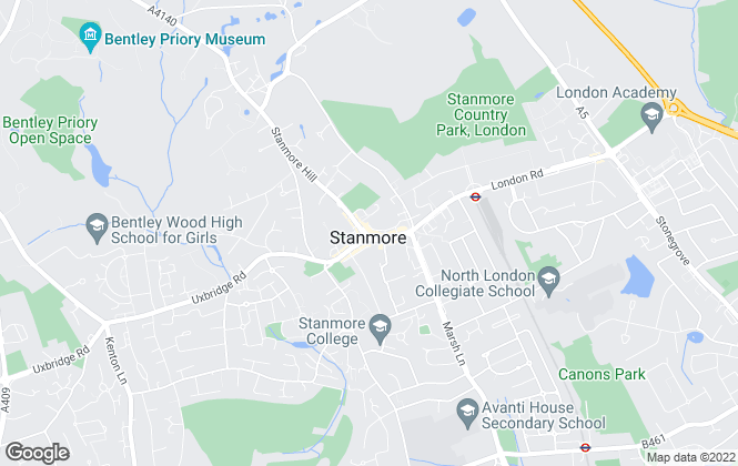 Map for Breslauer, Stanmore