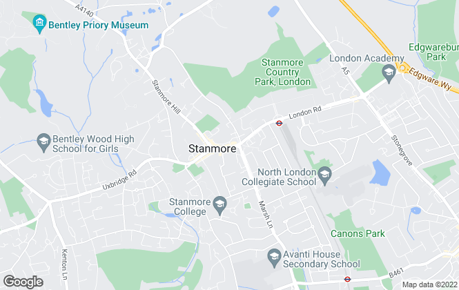 Map for Anscombe & Ringland, Stanmore