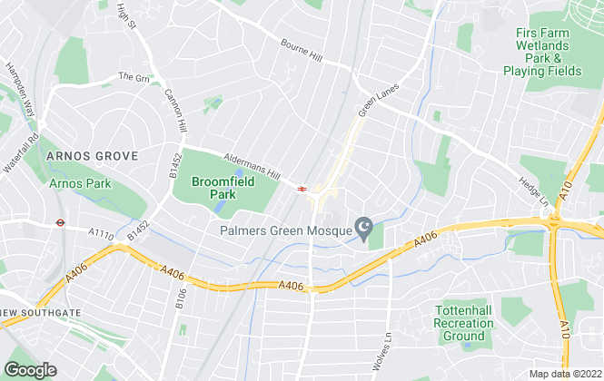 Map for Tower Estates , Palmers Green - Sales