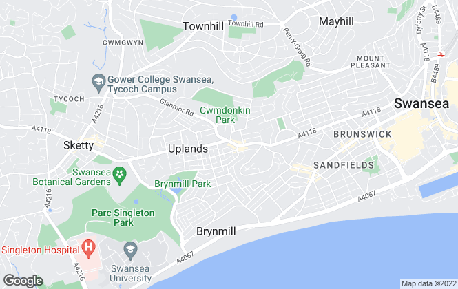 Map for Swan Letting, Swansea