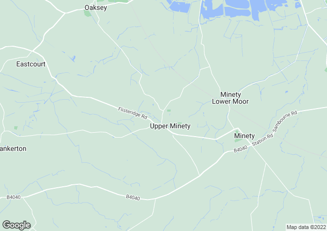 Map for Upper Minety, Wiltshire