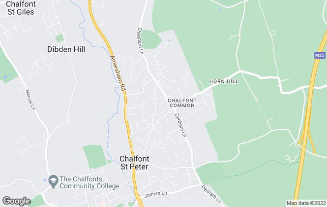 Map for Place, Chalfont St Peter, Chalfont St Giles , Gerrards Cross, Rickmansworth and Beaconsfield