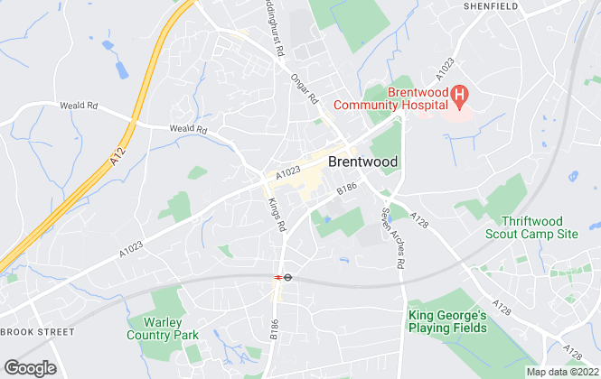 Map for Country Places, Brentwood