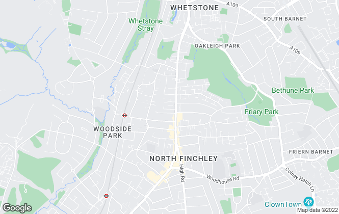 Map for Penny Kenton, North Finchley