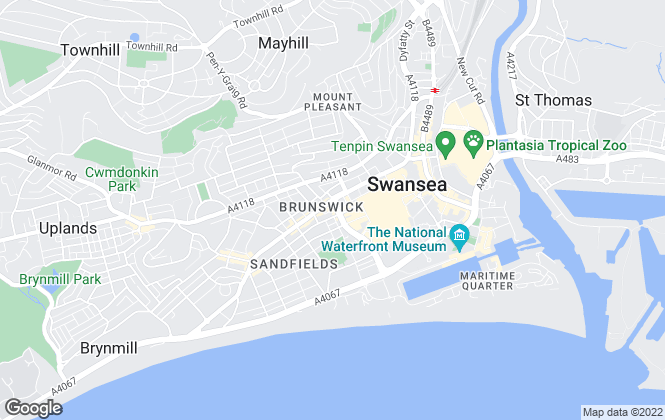 Map for Peter Alan, Swansea - Lettings