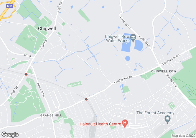 Map for Vicarage Lane, Chigwell, Essex