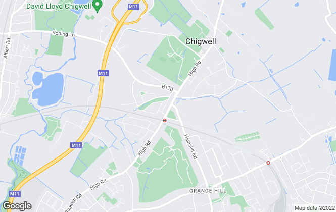 Map for Phillip Leigh, Chigwell
