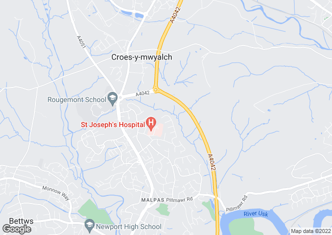 Map for Claremont, Malpas