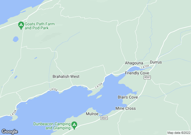 Map for Gearahmeen, Durrus,   Cork West