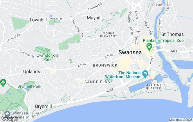 Map for Charles Perrett Property, Swansea