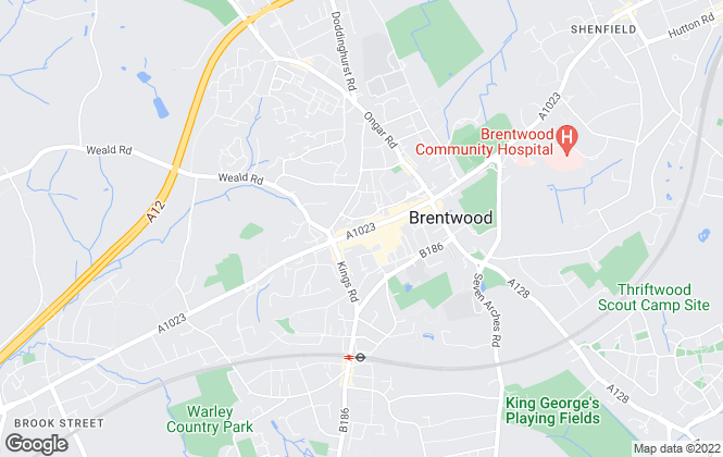 Map for Beresfords, at Brentwood