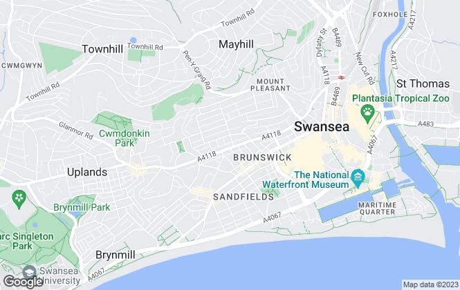Map for StudentDigz, Swansea
