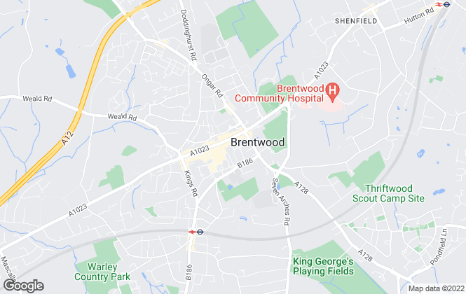 Map for Beresfords Lettings, at Brentwood