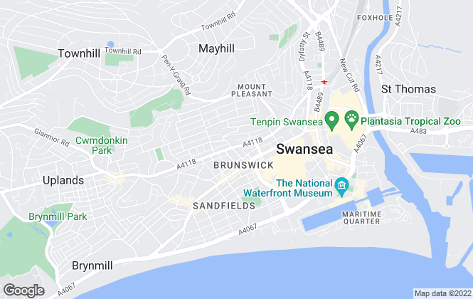 Map for The Living Room Letting Agency Swansea ltd, Swansea