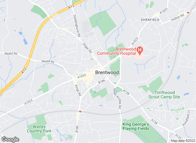 Map for Bairstow Eves, Brentwood