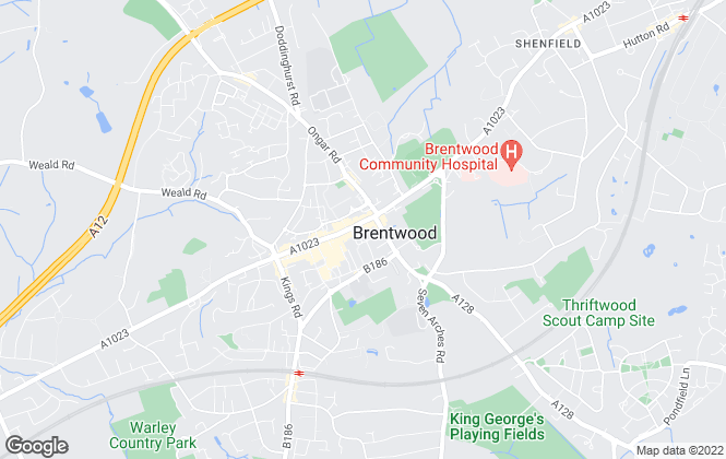 Map for Bairstow Eves Lettings, Brentwood