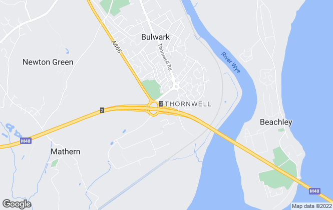 Map for House and Home Property Agents, Chepstow