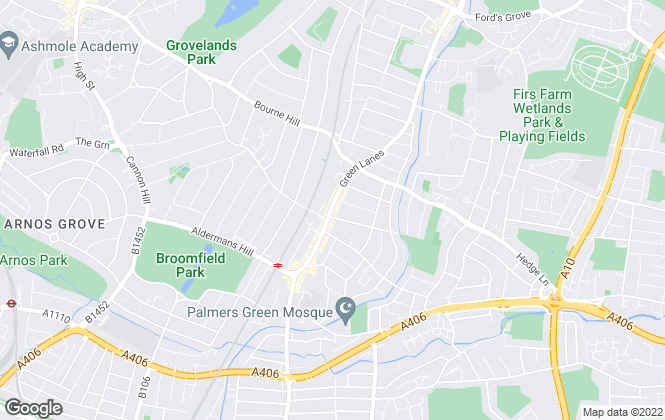 Map for Range Homes , Palmers Green